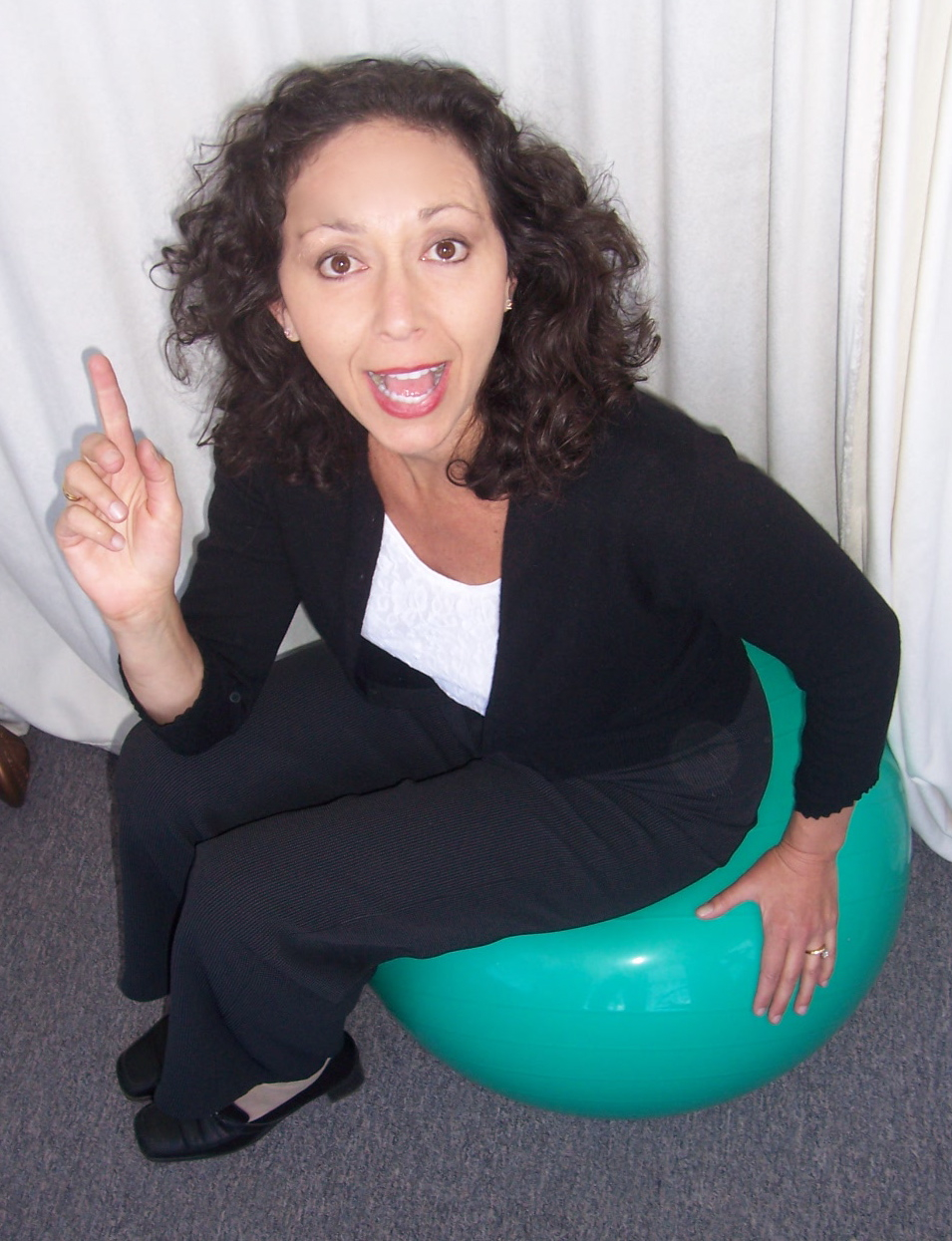 Irene Diamond On Ball Pointing Up- Active Myofascial Therapy The Diamond Method